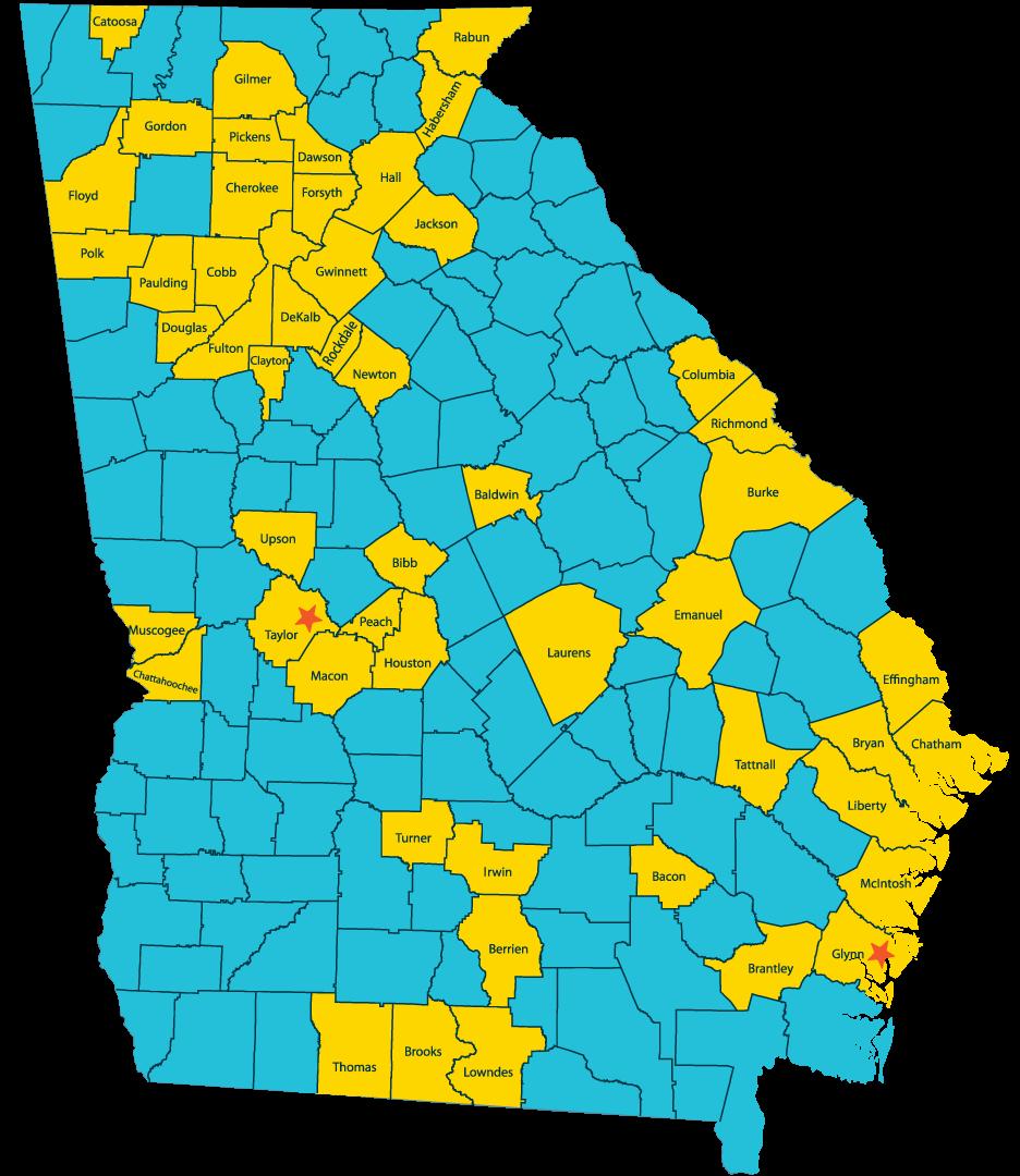 Map Of Georgia For Kids.Morningstar Children Family Services